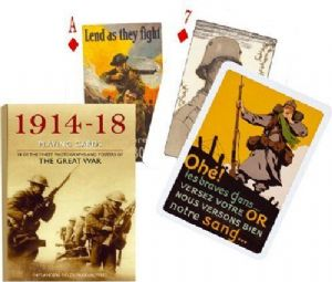 1914-1918 World War I set of 52 + jokers  playing cards    (gib)
